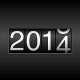 Odómetro del Año Nuevo 2014 Fotografía de archivo