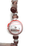 Odómetro del líquido del tubo Foto de archivo