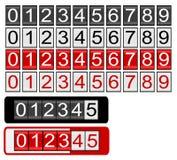 Odómetro negro y rojo ilustración del vector