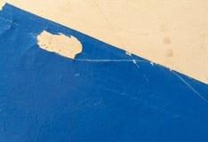 Odłupany błękit Malująca Ścienna farby powierzchnia obrazy royalty free