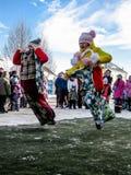 Odświętność ludowy wakacyjny Maslenitsa w Rosja Zdjęcia Stock