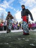 Odświętność ludowy wakacyjny Maslenitsa w Rosja Obraz Stock