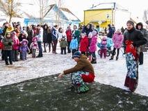 Odświętność ludowy wakacyjny Maslenitsa w Rosja Fotografia Royalty Free