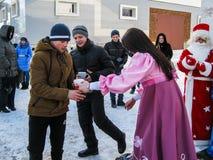 Odświętność ludowy wakacyjny Maslenitsa w Rosja Fotografia Stock