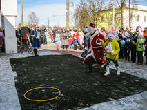 Odświętność ludowy wakacyjny Maslenitsa w Rosja Zdjęcie Stock