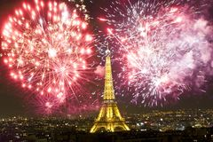 Odświętność nowego roku ` s w Paryż Zdjęcia Stock