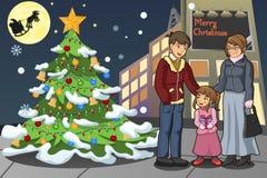 Odświętność rodzinni Boże Narodzenia ilustracja wektor