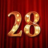 Odświętność 28 rok rocznicowych Obrazy Stock