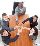 odświętność sukcesów biznesowi ludzie Fotografia Stock