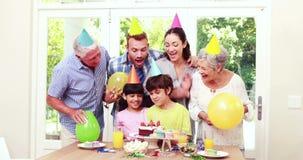 Odświętność szczęśliwy rodzinny urodziny zbiory