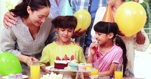 Odświętność szczęśliwy rodzinny urodziny zdjęcie wideo