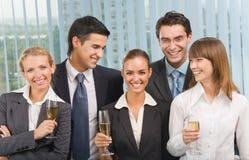 odświętności biznesowa drużyna Zdjęcia Stock