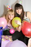 odświętności urodzinowa kobieta dwa Zdjęcie Stock