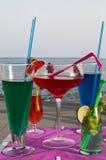 Odświeżać napoje w plaży Obrazy Stock