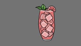 Odświeżająca napój ilustracja Obrazy Stock
