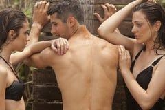 odświeżająca prysznic Obraz Royalty Free