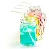 Odświeżający lato napoje w słoju Fotografia Stock