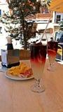 Odświeżający napój z tapas w Hiszpania Obraz Stock