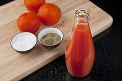 Odświeżający Pomidorowy sok Fotografia Royalty Free