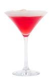 Odświeżający zimny koktajl w Martini szkle Czerwony koktajl w Martini szkle Zdjęcie Royalty Free