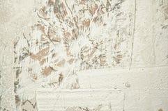 odświeżania stiuku ściany biel Zdjęcia Royalty Free