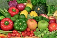 Odżywczy świezi owoc i warzywo dla zdrowego Obrazy Stock