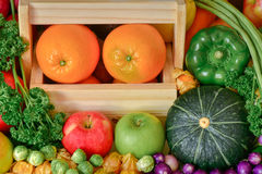 Odżywiań owoc i warzywo dla zdrowego Obraz Royalty Free