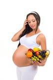 Odżywianie kobieta w ciąży Witamina owocowy kosz Zdrowie, piękno, dieta Obraz Stock