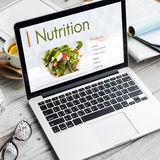 Odżywianie Zdrowej diety planu pojęcie zdjęcie stock