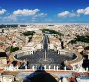 Od above St Peters kwadrat i Rzym () Zdjęcia Stock