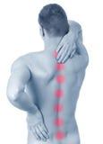 Od backache mężczyzna cierpienie fotografia stock