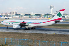 OD-MEB Middle East Airlines, Airbus A330-243 Lizenzfreies Stockbild