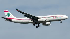 OD-MED Middle East Airlines, Airbus A330-200 Fotografia de Stock