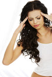 Od migreny kobiety cierpienie Zdjęcie Stock