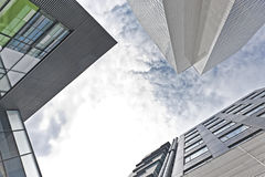 Od minus budynek biurowy widok Obrazy Stock