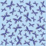 Od motyli bezszwowy wzór ilustracja wektor