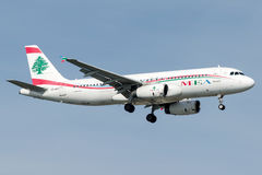 OD-MRO Middle East Airlines, Aerobus A320 - 200 Obrazy Stock