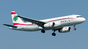 Od-MRT Middle East Airlines, Luchtbus A320-200 stock foto