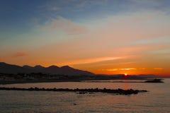 Od nabrzeża Marina Di Massa Fotografia Stock