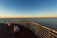 Od nabrzeża Marina Di Massa Zdjęcia Stock