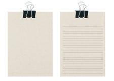 Od notatek notatki przetwarzają papier z czerń papierem cli Zdjęcie Stock