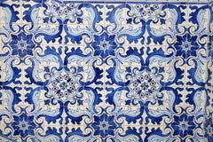 Od orientalnego china/dziejowe błękitny płytki Asia zdjęcia stock