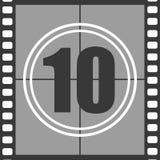 10 od starego filmu obliczenia puszka ilustracji