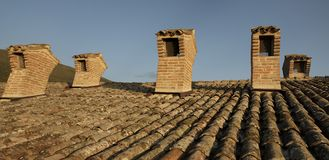 Od style chimneys. stock images