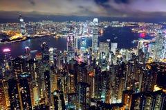 Od szczytu Hong Kong widok Obraz Stock