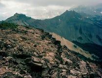 Od szczytu Niedźwiadkowa zatoczki góra, kózek skał pustkowie, Wenatchee las państwowy, Kaskadowy pasmo, Waszyngton Zdjęcia Royalty Free
