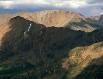 Od szczytu szczyt 13500, Mt Masywny pustkowie, Sawatch pasmo, Kolorado obraz stock