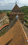 Od Valea warowny kościół Viilor zdjęcie royalty free