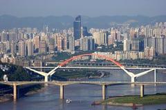 Od wahadłowiec łodzi na jangcy w Chongqing Obraz Royalty Free