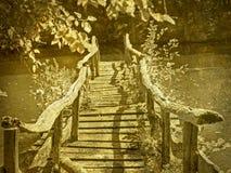 Od wooden bridge Stock Photo